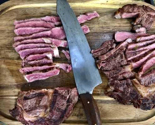 Steak am Gasgrill